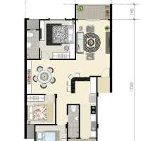 Eduvista Apartment Floorplan Type C (Intermedia)